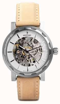 Weird Ape Kolt Silber und Silber Zifferblatt Sandstein Wildlederarmband WA02-005533