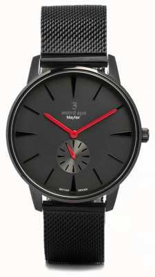 Weird Ape Mayfair alle schwarz und rot Mesh schwarz WA02-005615