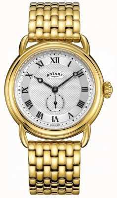Rotary Mens Canterbury vergoldetes Armband GB05338/21