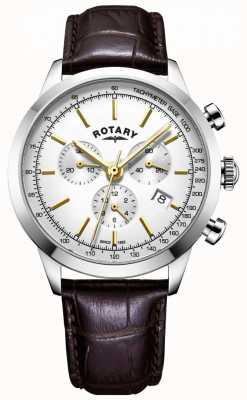Rotary Herren cambridge Chronograph Leder Uhr GS05253/02
