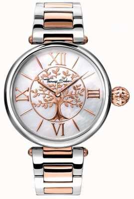 Thomas Sabo Damen Glam und Soul Karma Uhr stieg Gold und Silber WA0315-272-213-38
