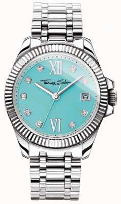 Thomas Sabo Damen Glam und Soul göttliche Uhr türkisfarbenes Zifferblatt WA0317-201-215-33