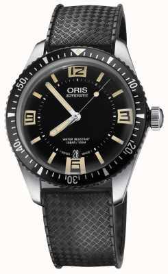 Oris Divers fünfundsechzig automatische Gummiband schwarzes Zifferblatt 01 733 7707 4064-07 4 20 18