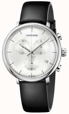 Calvin Klein High-Noon schwarz Lederband Chronograph Uhr K8M271C6