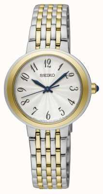 Seiko Damen zweifarbige Silber- und Goldarmbanduhr ab Display SRZ506P1EX-DISPLAY