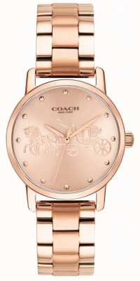 Coach Womens Grand Rose Gold Armband & Case Uhr 14502977