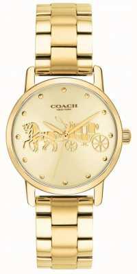 Coach Großartige Goldfall- u. -armbanduhr der Frauen 14502976