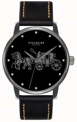 Coach Große schwarze Damen-Tasche und schwarzes Lederarmband 14502974