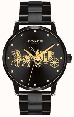 Coach Großartiges schwarzes Gehäuse und Armband der Frauen 14502925
