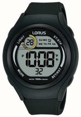 Lorus Unisex lorus Gummi Digital Sportuhr schwarz R2373LX9
