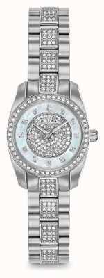 Bulova Kristallset für Damen aus Edelstahl 96L253