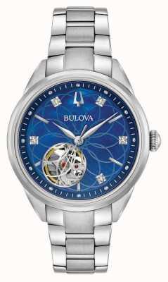 Bulova Diamant Edelstahl Damen Automatik 96P191