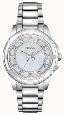 Bulova Damen Designer Diamant Perlmutt 96S144