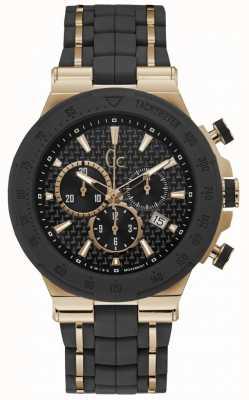 Gc Mens Structura Chronograph schwarz Silikonband Y35001G2