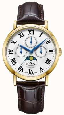 Rotary Herren windsor moonphase Uhrenarmband GS05328/01