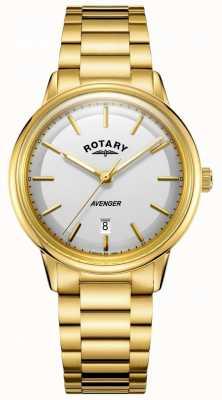 Rotary Herren Rächer Uhr Gold Ton Barcelet GB05343/02
