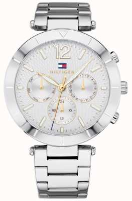 Tommy Hilfiger Damen Chloe Uhr Tag Datum Silber Ton Armband 1781877