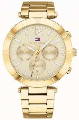 Tommy Hilfiger Damen Chloe Uhr Tag Datum Goldton Armband 1781878
