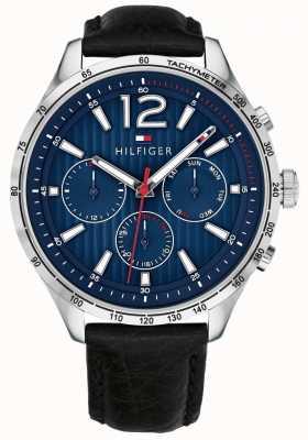 Tommy Hilfiger Herren Gavin Chronograph Uhr schwarzes Lederarmband 1791468