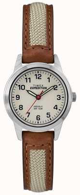 Timex Feldmini tan Leder natürliches Zifferblatt TW4B11900