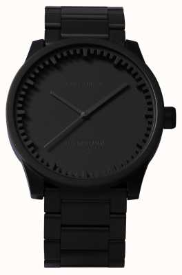 Leff Amsterdam Röhrenuhr s42 schwarzes Gehäuse schwarzes Armband LT72102