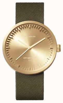 Leff Amsterdam Röhrenuhr D42 Messinggehäuse grün Cordura Armband LT72024