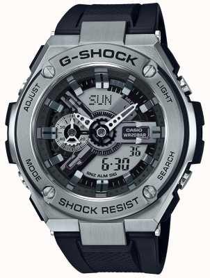 Casio G-Shock g-Stahl schwarzes Harzband GST-410-1AER