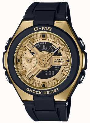 Casio Baby-g g-ms glamouröser Gold-Alarm-Chronograph MSG-400G-1A2ER