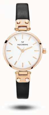 Mockberg Sigrid Petite schwarzes Armband weißes Zifferblatt MO201