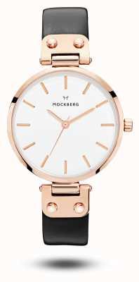 Mockberg Sigrid schwarzes Armband weißes Zifferblatt MO1001
