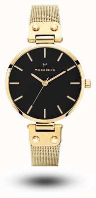 Mockberg Livia Noir Gold PVD vergoldetes schwarzes Zifferblatt MO1603