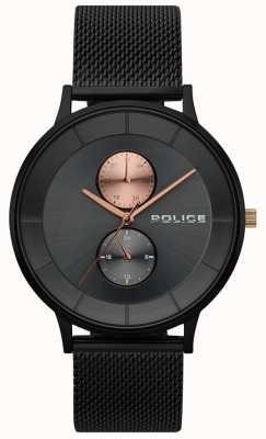 Police Herren Berkeley schwarz Mesh Uhr 15402JSB/61MM