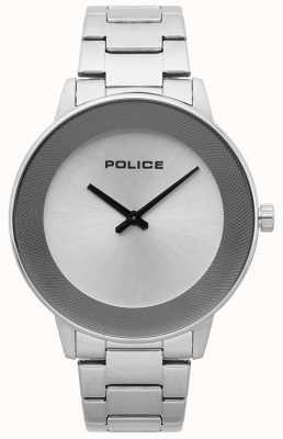 Police Mens Sunrise Edelstahl minimalistische Uhr 15386JS/04M