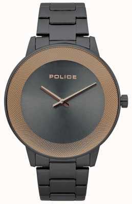 Police Mens Sunrise Edelstahl minimalistische Uhr 15386JSU/61M