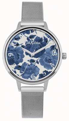 Cath Kidston Womens floral Silber Mesh Uhr CKL051SM