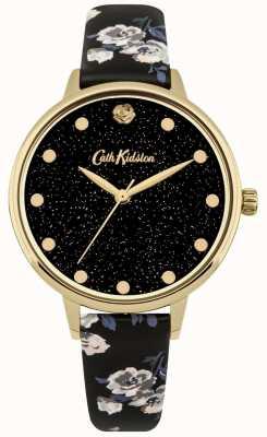 Cath Kidston Glittery Island bund schwarz Armband Uhr CKL056BG