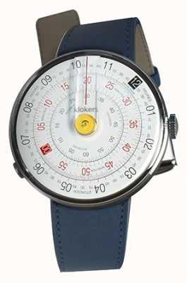 Klokers Klok 01 gelb Uhr Kopf indigo blau einzigen Riemen KLOK-01-D1+KLINK-01-MC3