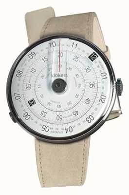 Klokers Klok 01 schwarzer Uhrenkopf graues Alcantara-Einzelarmband KLOK-01-D2+KLINK-01-MC6