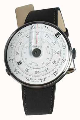 Klokers Klok 01 schwarze Uhrenkopfmatte schwarzer Doppelgurt KLOK-01-D2+KLINK-02-380C2
