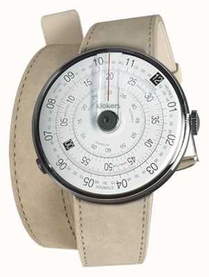 Klokers Klok 01 schwarzer Uhrenkopf grauer Alcantara-Doppelgurt KLOK-01-D2+KLINK-02-380C6