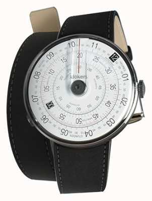 Klokers Klok 01 schwarze Uhrenkopfmatte schwarz 420mm Doppelgurt KLOK-01-D2+KLINK-02-420C2