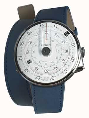 Klokers Klok 01 schwarzer Uhrenkopf indigoblau 420mm Doppelgurt KLOK-01-D2+KLINK-02-420C3