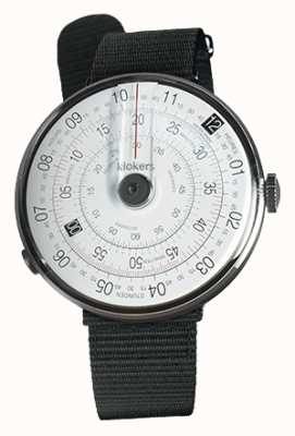 Klokers Klok 01 schwarzer Uhrenkopf schwarzer textiler Einzelarmband KLOK-01-D2+KLINK-03-MC3