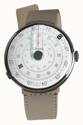 Klokers Klok 01 schwarzer Uhrenkopf grege strait Einzelgurt KLOK-01-D2+KLINK-04-LC9