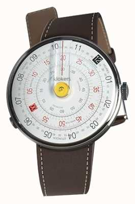 Klokers Klok 01 gelber Uhrenkopf schokoladenbrauner einzelner Bügel KLOK-01-D1+KLINK-01-MC4