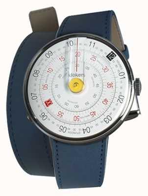 Klokers Klok 01 gelb Uhr Kopf indigo blau Doppelarmband KLOK-01-D1+KLINK-02-380C3