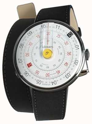 Klokers Klok 01 gelb Uhrenkopf Matte schwarz 420mm Doppelgurt KLOK-01-D1+KLINK-02-420C2