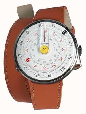 Klokers Klok 01 gelber Uhrenkopf orange 420mm Doppelgurt KLOK-01-D1+KLINK-02-420C8