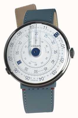 Klokers Klok 01 blau Uhr Kopf blau Jean Strait einzigen Gurt KLOK-01-D4.1+KLINK-04-LC10