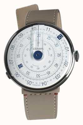 Klokers Klok 01 blauer Uhrenkopf grege strait Einzelgurt KLOK-01-D4.1+KLINK-04-LC9
